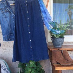Studio West Apparel Denim Maxi Skirt